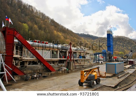 SOCHI, APRIL 14: Construction of the tunnel shield method in Sochi on April 14, 2010. The combined road and railway from Adler to Krasnaya Polyana for the Winter Olympic Games 2014.