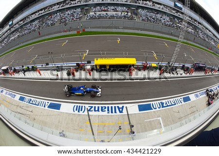 SOCHI/RUSSIA -  APRIL 30, 2016; The Russian Formula 1 Grand prix. Qualification races at Sochi Autodrome.