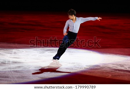 Sochi, RUSSIA - February 22, 2014: Daisuke TAKAHASHI at Figure Skating Exhibition Gala at Sochi 2014 XXII Olympic Winter Games