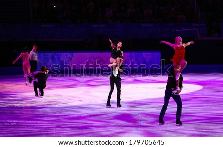 Sochi, RUSSIA - February 22, 2014: Finale of Figure Skating Exhibition Gala at Sochi 2014 XXII Olympic Winter Games