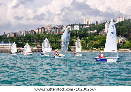 SOCHI, RUSSIA - JUNE, 7: Sochi regatta. Cup of Russia in the Olympic classes of 2010-2011 season on June 7, 2011, Sochi, Russia