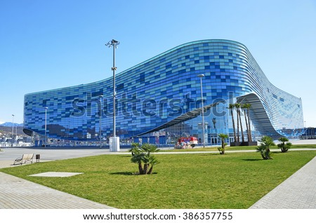 "Sochi, Russia, March, 01, 2016, Ice palace ""Iceberg"" in Sochi Olympic Park"