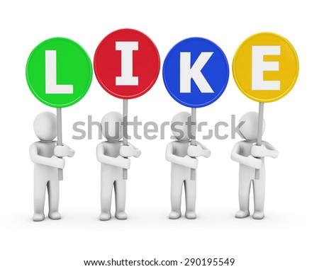 socia media symbol - stock photo