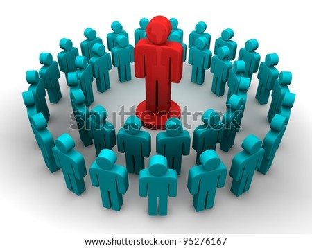 Social Circle Network - stock photo