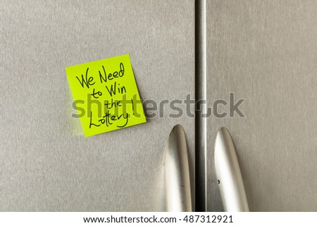 Social commentary on a sticky note on a home refrigerator.