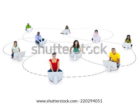 Social Communications - stock photo