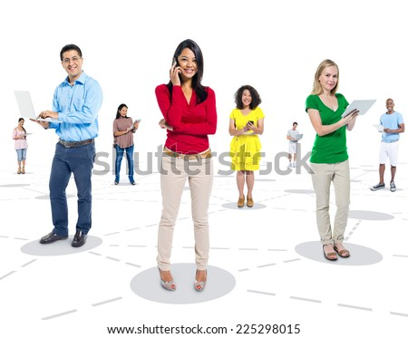 Social Connections Image converted using ifftoany - stock photo