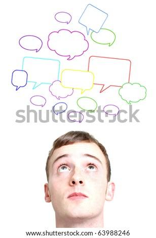 Social conversations - stock photo