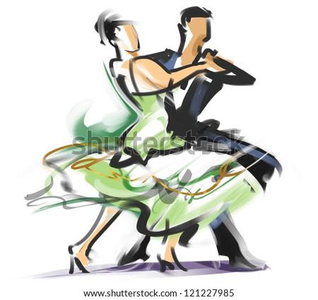 Social dancing - stock photo
