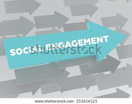 SOCIAL ENGAGEMENT - stock photo