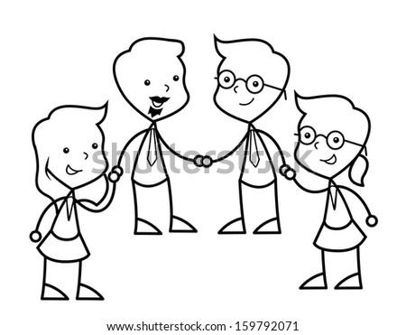 social group - stock photo