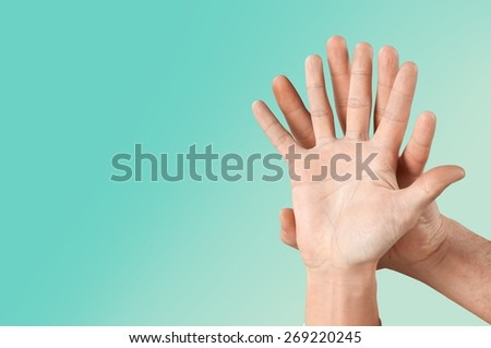 Social. Happy finger smileys with speech bubbles. - stock photo