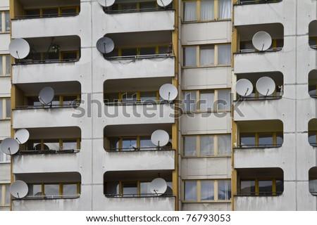 Social housing in Berlin, Kottbusser Tor - stock photo
