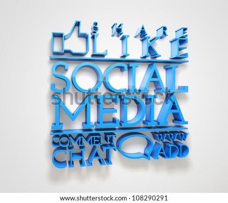 Social media ! - stock photo
