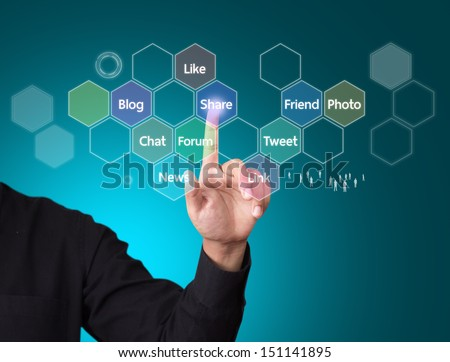 Social media and networking concept - stock photo