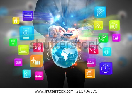social media applications. - stock photo