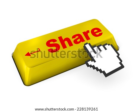 social media Button on Keyboard , like, social media - stock photo