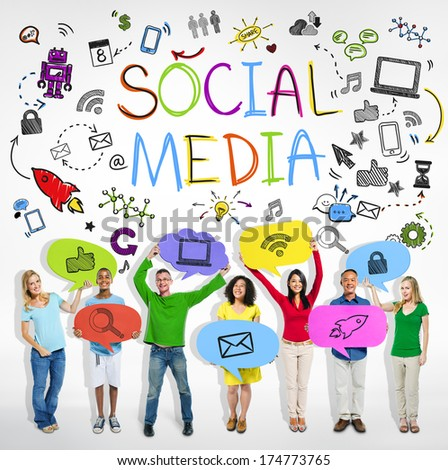 Social Media Communications Group - stock photo