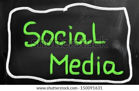social media concept - stock photo