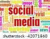 Social Media Concept as a Abstract Background - stock photo