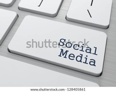 Social Media Concept. Button on Modern Computer Keyboard with Word Partners on It. - stock photo