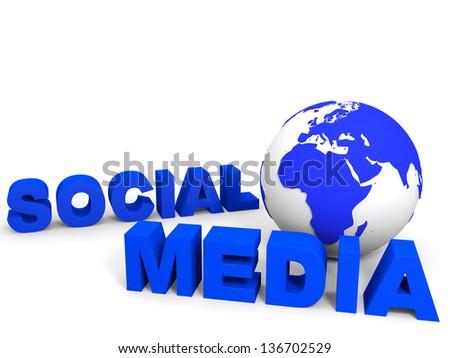 Social media concept. 3D illustration. - stock photo