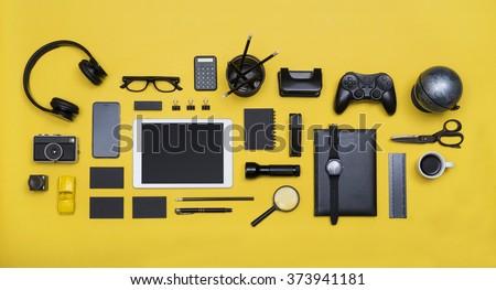 Social media concept hero header image - stock photo