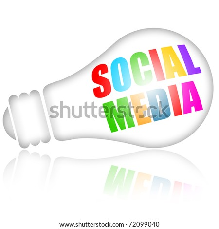 Social media concept isolated over white background - stock photo