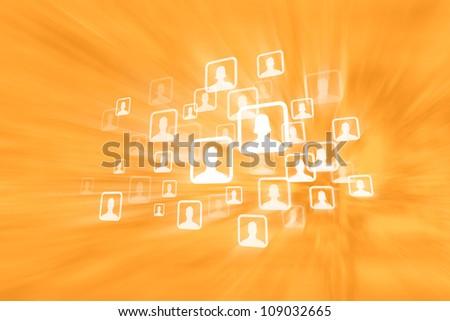 Social Media Groups - stock photo