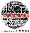 Social media info text graphic and arrangement concept. - stock vector