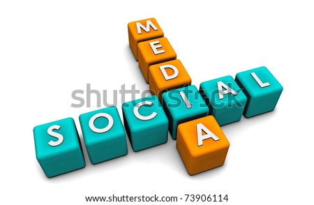 Social Media Interaction Technology on the Web - stock photo