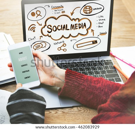 Social Media Internet Network Technology Concept