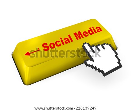 Social media keyboard button , like,  social media - stock photo