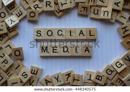 Social media letters - stock photo