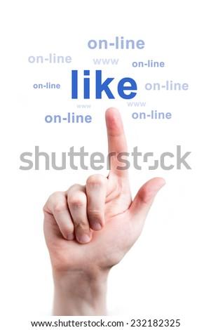 Social media like - stock photo