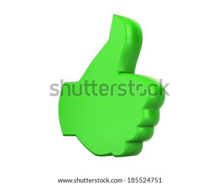 social media like share symbol - stock photo