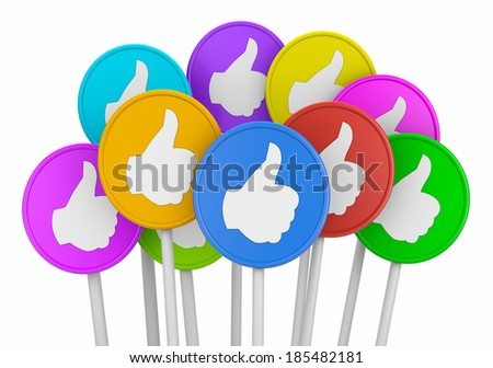 social media like thumb up symbol - stock photo