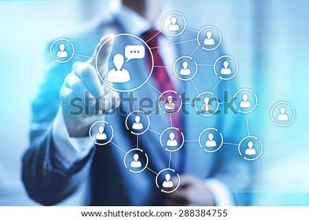 Social media marketing concept connectivity illustration  - stock photo