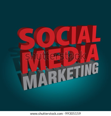 Social media marketing illustration - stock photo