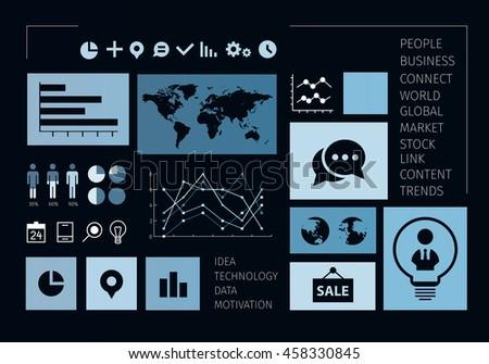 Social Media Marketing . Mixed media - stock photo