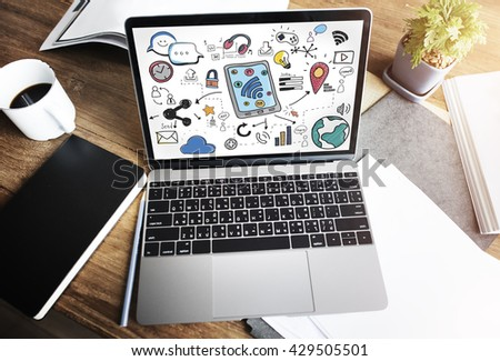 Social Media Networking Communication Connecting Concept