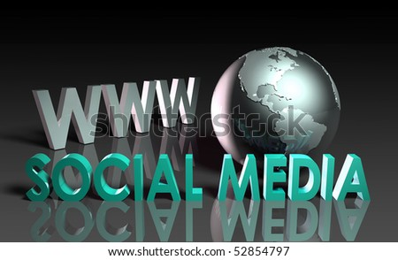 Social Media of Online Content on the Web - stock photo
