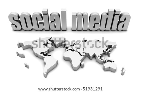 Social Media Platform For A Global Audience - stock photo