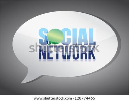 Social media speech bubble illustration design over white - stock photo