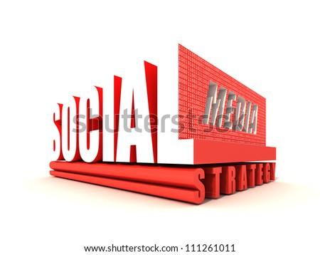Social Media Strategy - stock photo