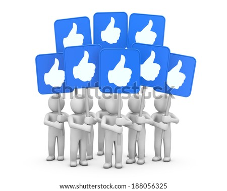social media symbol like  share  - stock photo