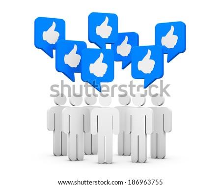 social media symbol like share thumb up - stock photo