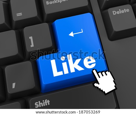 social media symbol  like thumb up  - stock photo