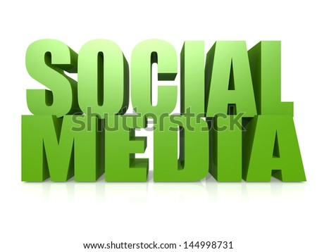 Social media word - stock photo
