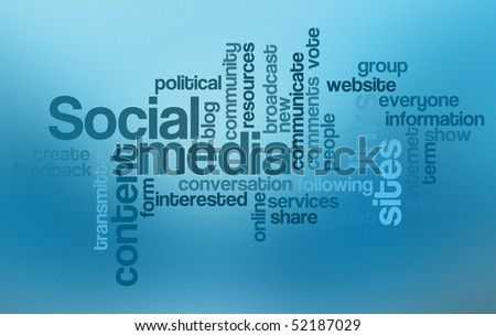 Social media - Word Cloud - stock photo
